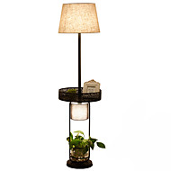 Floor Lamp  Rustic/Lodge Novelty Black White Color with Painting Use On/Off Switch Without potted plant and Decorations