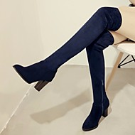 נשים מגפיים PU אביב שחור אדום כחול שטוח