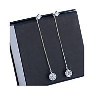 Pendientes colgantes Perla Artificial Elegant Nupcial Perla Diamante Sintético Legierung Forma de Círculo Plata Joyas ParaBoda Fiesta
