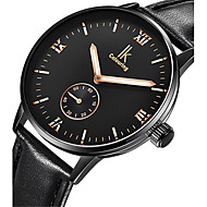 Men's Fashion Watch Mechanical Watch Automatic self-winding Water Resistant / Water Proof Noctilucent Leather Band Black