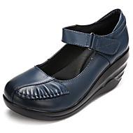 Damen Schuhe Leder Frühling Sneakers Für Schwarz Rot Blau