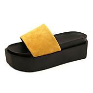 Dámské Pantofle a Žabky Pohodlné Lakovaná kůže Léto Podzim Ležérní Šaty Pohodlné Creepers Černá Béžová Žlutá 5 - 7 cm