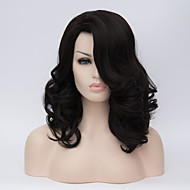 Europe and America Long Hair Wigs Black Partial Long Curly Hair Wigs 18inch