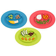 Smiling Face Baby Feeding Food Plate Silicone Infants Tray Dish Box Children Silica Gel Plates Random Color