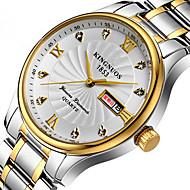 KINGNUOS Herre Modeur Armbåndsur Unik Creative Watch Casual Ur Quartz Kalender Rustfrit stål Bånd Sej Afslappet Kreativ Luksus Elegante