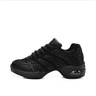Kişiselletirilmemiş Kadın Dans Sneakerları Tül Babetler Topuklular Egzersiz Beyaz Siyah