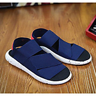 Men's Sandals Comfort Tulle Leatherette Spring Casual Comfort Blue Black White Flat