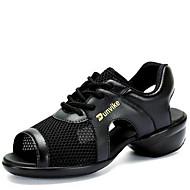 Kişiselletirilmemiş Kadın Dans Sneakerları Tül Sandaletler Dış Mekan Düşük Topuk Beyaz Siyah 2,5 - 3,6 cm