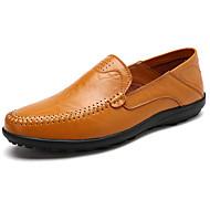 Homme Chaussures Gomme Printemps Automne Moccasin Mocassins et Chaussons+D6148 Pour Noir Brun claire Brun Foncé