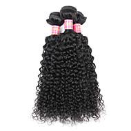 טווה שיער אדם שיער ברזיאלי Kinky Curly שישה חודשים 3 חלקים שוזרת שיער