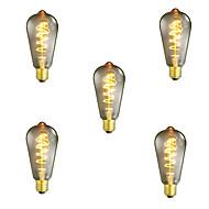 5pcs dimmable st64 40w e27 vintage edison žarulja topla bijela žarulja svjetiljka dekorativna žarulja žarulja žarulja ac220-240v