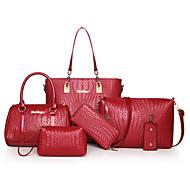 női táska állítja pu minden évszakban sport alkalmi irodai&karrier hordó cipzár fukszia, piros, fekete, fehér, kék