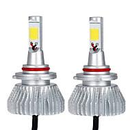 זוג kkmoon של 30w 9006 cob הוביל אור פנס ערפל מנורה 12v 24v מכונית נורה קרן 6000k לבן