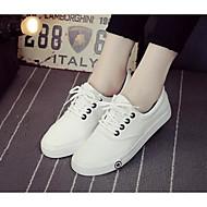 Feminino Sapatos Malha Respirável Couro Ecológico Primavera Verão Conforto Tênis Para Casual Branco Preto Azul