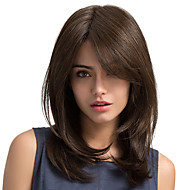 Frivolous Oblique fringe Natural Long hair Synthetic Wig