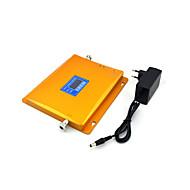 Cdma 800mhz 850mhz dcs 1800mhz mobiltelefon signal booster signal repeater forstærker med strømforsyning lcd display / golden