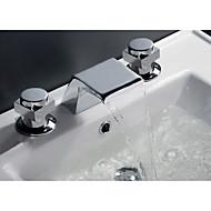 חורים צדדיים מפל מים with  שסתום קרמי שתי ידיות חור אחד for  כרום , ברז לאמבטיה