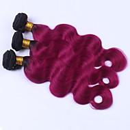 A Ombre Cheveux Brésiliens Ondulation naturelle 12 mois 3 Pièces tissages de cheveux