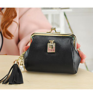 Žene kovanica torbica poliester sve sezone pravokutni zatvarač fuksija ljubičasta crna