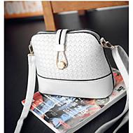 Damen Taschen Ganzjährig PU Umhängetasche mit für Normal Weiß Schwarz
