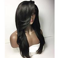 жен. Парики из натуральных волос на кружевной основе Натуральные волосы Лента спереди Бесклеевая кружевная лента 150% плотность Прямые