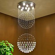 Led krystalový stropní závěs světlý vnitřní lustry domů závěsné svítidla svítidla svítidla s 5w vedly teplé bílé žárovky