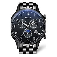 Dames mechanische horloges Automatisch opwindmechanisme Roestvrij staal Band Zilver Goud