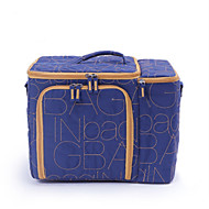 Unisex pungă de prânz nylon toate anotimpurile casual în aer liber pătrat fermoar albastru