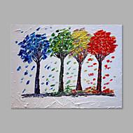 Maalattu Kukkakuvio/Kasvitiede Horizontal,Taiteellinen 1 paneeli Kanvas Hang-Painted öljymaalaus For Kodinsisustus