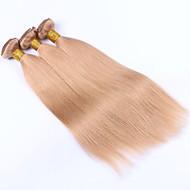 Emberi haj Maláj haj Precolored Hair sző Egyenes Póthajak 3 darab Eperszőke