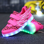 Girls' Sneakers Comfort Novelty Light Up Shoes Spring Fall Breathable Mesh Microfibre Track & Field Shoes Casual Outdoor LED Flat Heel