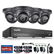 Sannce® 4ch cctv beveiligingssysteem onvif 1080p ahd / tvi / cvi / cvbs / ip 5-in-1 DVR met 4 * 2.0mp camera's geen HDD