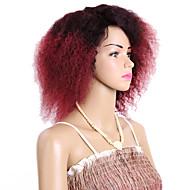 カーリー三つ編み カール 人毛のかぎ針編みひも カネカロン ブラック ブラック/ストロベリーブロンド ブラック/ミディアムオーバーン ブラック/バーガンディ ヘアエクステンション 8 インチ 髪の三つ編み