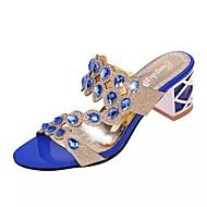 Naiset Sandaalit Comfort PU Kesä Kausaliteetti Comfort Kulta Musta Sininen Tasapohja