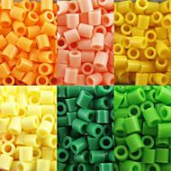 ca. 500 stuks / zak 5mm zekering kralen hama kralen diy puzzel eva materiaal safty voor kinderen (assorti kleur 6, b17-b24)