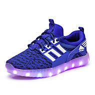 Jungen Sneaker Leuchtende LED-Schuhe Tüll Frühling Herbst Normal Walking Flacher Absatz Schwarz Grün Blau Flach