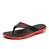 Herren Slippers & Flip-Flops Komfort Sommer PU Flacher Absatz Gelb Rot Grün Blau Flach