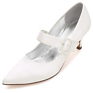 Feminino Sapatos De Casamento Conforto Plataforma Básica Tira no Tornozelo Cetim Primavera Verão Casamento Social Festas & Noite Presilha