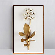 Floral/Botanical Framed Oil Painting Wall Art,PS Material With Frame For Home Decoration Frame Art Living Room Dining Room 1 Piece