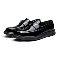 Men's Boat Shoes Comfort Patent Leather Wedding Casual Party & Evening Flat Heel Black
