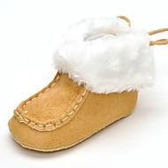 Baby Platte schoenen Comfortabel Modieuze laarzen Weefsel Herfst Winter Bruiloft Causaal Formeel Feesten & Uitgaan Veters Platte hakWit