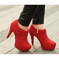 Women's Heels Comfort Basic Pump Fall Winter Real Leather PU Casual Black Ruby Burgundy 2in-2 3/4in