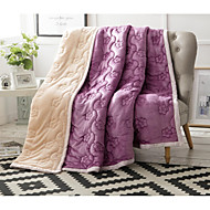 Coral fleece 3D(random pattern) Polyester/Cotton Blend Blankets