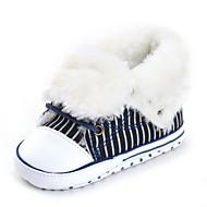 Bebê Rasos Conforto Primeiros Passos Sapatos de Berço Botas da Moda Tecido Outono Inverno Casamento Casual Social Festas & Noite Cadarço