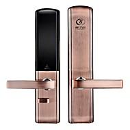ホーム二重オープンドアスライド電子スマートロック指紋リモートコントロールパスワードrifdカードロックロックボディ24 * 240センチメートル