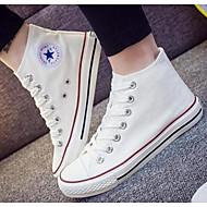Dames Schoenen Canvas Lente Herfst Comfortabel Sneakers Voor Causaal Wit Zwart Rood Blauw
