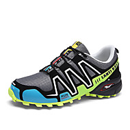 Men's Athletic Shoes Light Soles Spring Summer Tulle Leatherette Fitness & Cross Training Athletic Lace-up Flat Heel Black Gray Flat