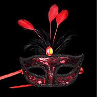 1pc kis kalap haj szalag halloween jelmez fél a lapos arany ezüst álarc maszk toll festmény maszk fél szín véletlenszerű