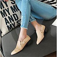Dame Flate sko Komfort PU Vår Avslappet Mandel 5 - 7 cm