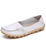 נשים נעליים ללא שרוכים מוקסין עור אמיתי קיץ סתיו קזו'אל פפיון עקב שטוח אדום ורוד Wine כחול בהיר חאקי שטוח
